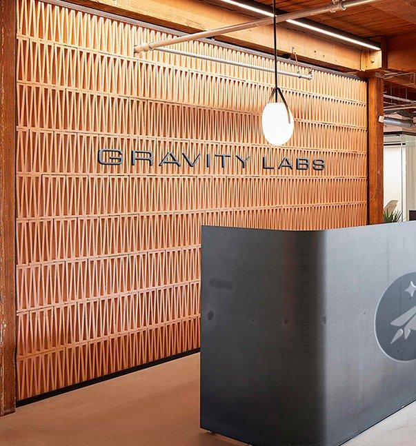 gravity labs reception desk